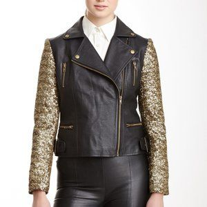 NWOT Romeo & Juiet Couture sequin moto jacket -M